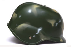 Helmet sideview. One side view of a camouflage helmet Royalty Free Stock Photos