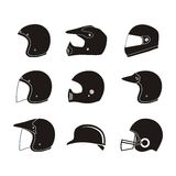 Helmet silhouette - helmet icon sets Royalty Free Stock Image