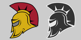 Helmet of the Spartan. Flat design, vector illustration, vector Stock Images