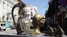 Helmet of a Spartan warrior, Athens, Greece Royalty Free Stock Photography