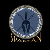 Helmet with spears and shield. Spartan helmet with spears and shield Vector Illustration