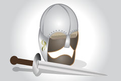 Helmet and sword Royalty Free Stock Images