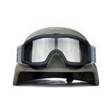 Helmet and tactical goggles isolated on white background Stock Photos
