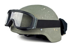 Helmet and tactical points Stock Photography