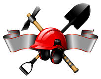 The helmet with tools Royalty Free Stock Photo