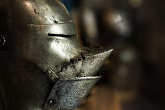 Helmet from the Tower of London Armoury Stock Photo