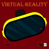 Helmet-of-virtual-reality-1 Obraz Stock