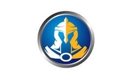 Helmet Warrior Logo Design Template Royalty Free Stock Images