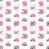 Helmet and Wheel pattern Stock Images