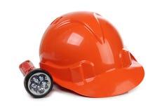 Helmet whit lantern Royalty Free Stock Photo