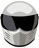 Helmet. White motorcycle helmet on a white background Royalty Free Stock Images