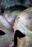 Helmets. Close up of ancient greek helmets Stock Photo