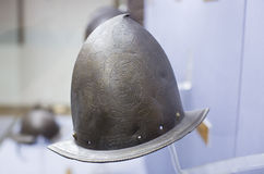 Helmets medieval knights Royalty Free Stock Images