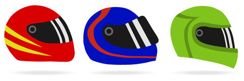Helmets of motorcyclists. Flat design, illustration stock illustration