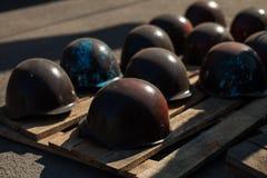 Helmets revolutionaries Ukraine Royalty Free Stock Photos