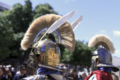 Helmets of roman soldiers Royalty Free Stock Photography