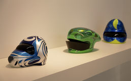 Helmets Scuplture art Patricia Picccinni Stock Photo