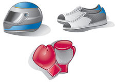 Helmets,shoe,glove Royalty Free Stock Photography