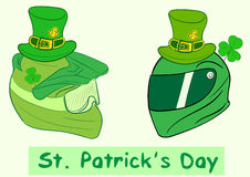 Helmets of a St. Patrick's Day Royalty Free Stock Image