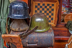 Helmets from WWII Royalty Free Stock Image