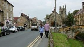 Helmsley - северный Йоркшир - Англия сток-видео