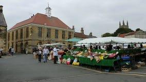 Helmsley Market - North Yorkshire - England stock video