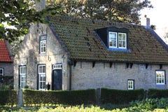 Helmsmans房子在Hollum,阿默兰岛海岛  免版税库存图片