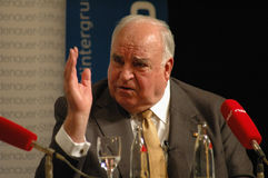 Helmut Kohl Photographie stock libre de droits