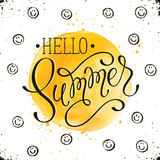 Helo summer card Royalty Free Stock Photography