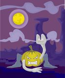 Heloween icon in the night Stock Photography