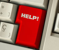 Help. Button on computer keyboard Stock Images