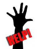 Help!. Five fingers on hand - illustration Royalty Free Stock Photo