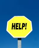 Help!. Help in a yellow signal Stock Photography