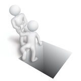 Help. The man fell into the pit, the other person helps to get out of the pit Royalty Free Stock Photo