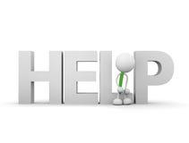 Help. 3d render illustration.Sitting on HELP Stock Images