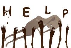 Help African poor Children. Children need your help. vector illustration stock illustration