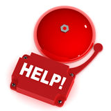 Help Alarm Bell Stock Photography
