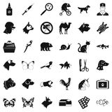 Help for animal icons set, simple style. Help for animal icons set. Simple style of 36 help for animal vector icons for web isolated on white background Royalty Free Stock Photos