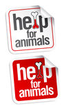 Help for animals stickers. Stock Photography