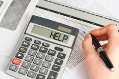 Help or assistance needed for tax calculation Royalty Free Stock Photography