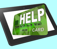 Help Bank Card Calculated Shows Financial Support And Giving. Help Bank Card Calculated Showing Financial Support And Giving Royalty Free Stock Images