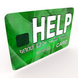 Help Bank Card Means Financial And Monetary. Help Bank Card Meaning Financial And Monetary Contributions Royalty Free Stock Images