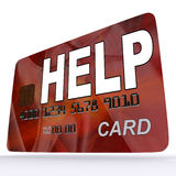 Help Bank Card Shows Financial Support And Giving Royalty Free Stock Photo