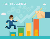 Help in business concept. Partnerships and Royalty Free Stock Image