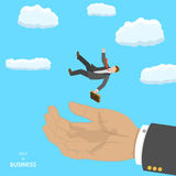 Help in business isometric flat vector concept. Stock Images