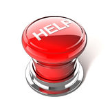 Help button. Red help button on white background Stock Image