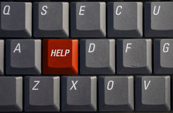 Help button. On a laptop keyboard Royalty Free Stock Photos