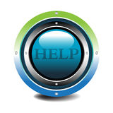 Help button. Colorful blue button with the text help written in the middle of the button Royalty Free Stock Photography