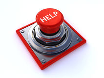 Help button. Isolated over a white background (3d render Stock Photos