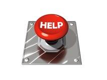 Help button. Red help, panic botton on white background Royalty Free Stock Photos